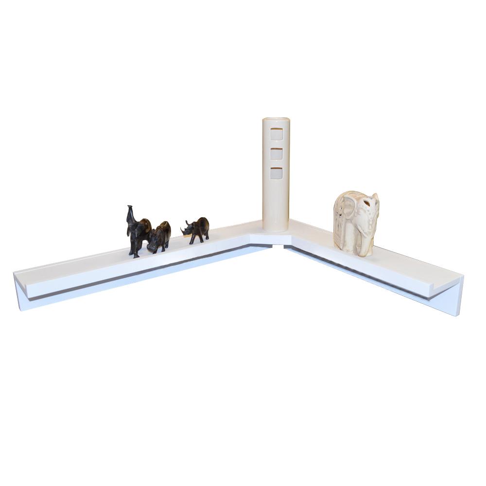 corma floating corner storage display shelf white. Black Bedroom Furniture Sets. Home Design Ideas