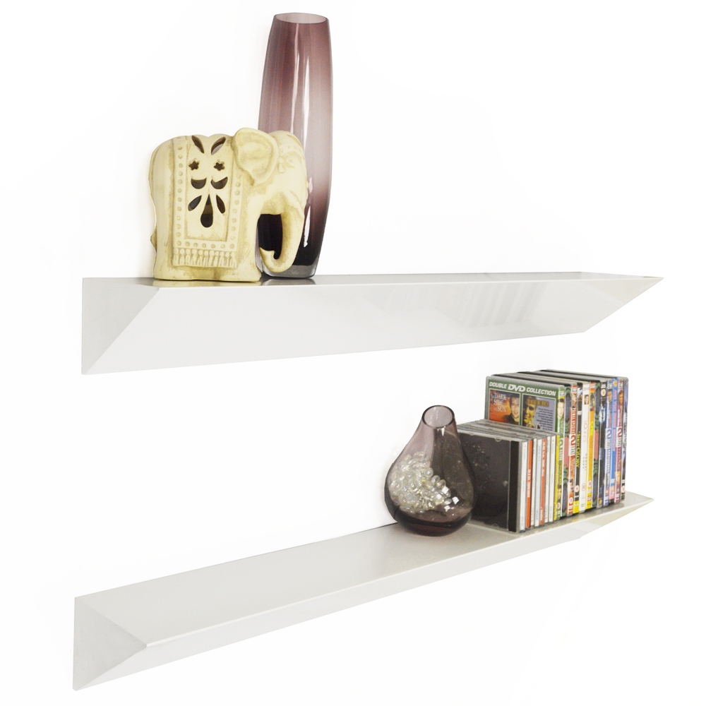 wedge wall mounted 3ft 90cm floating chunky shelves