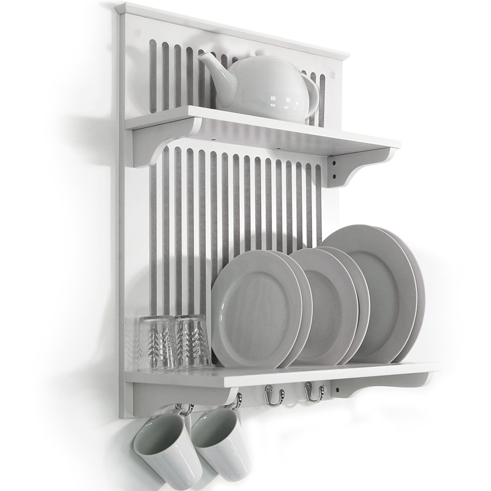 Kitchen Plate Bowl Cup Display / Wall Rack Shelves