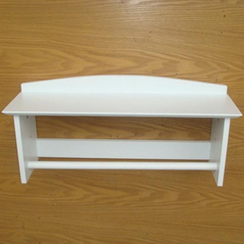 White Bathroom Shelf with Towel Rack