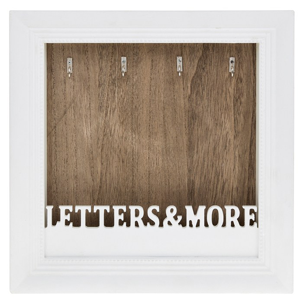 Key wooden letters and more wall mounted key holder brown white watson 39 s on the web - Wooden letter holder wall mount ...