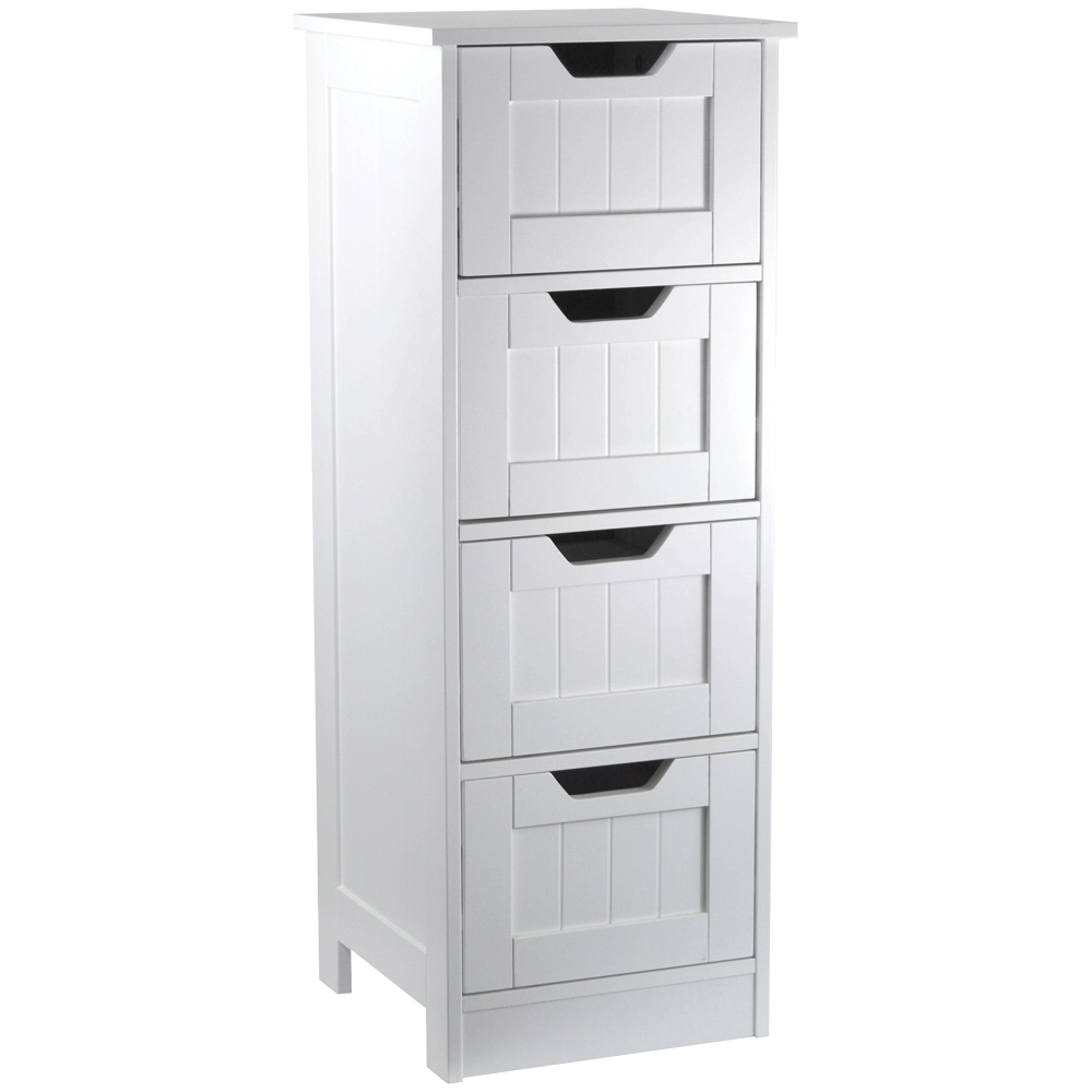 tongue and groove bathroom storage chest slimline unit white