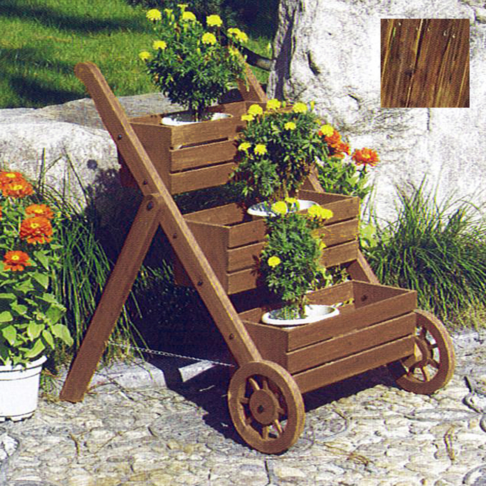 LADDER Solid Wood Garden 3 Tier Flower Planter Pot