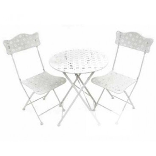 Star Metal Garden Bistro Table And Two Chairs Set Cream Watson 39 S On The Web Furniture