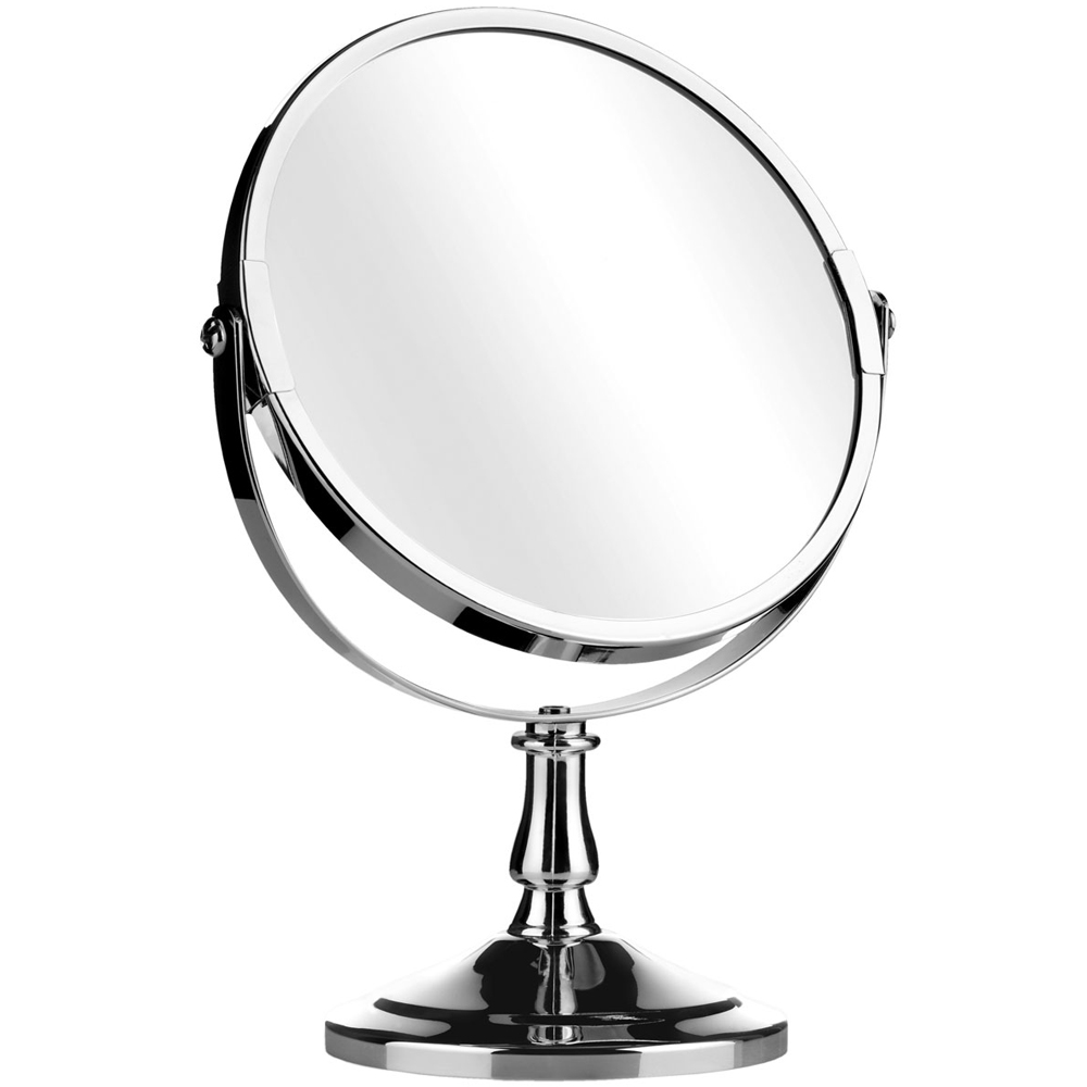 Reflect round free standing silver chrome bathroom make up mirror watson 39 s on the web for Free standing bathroom mirrors