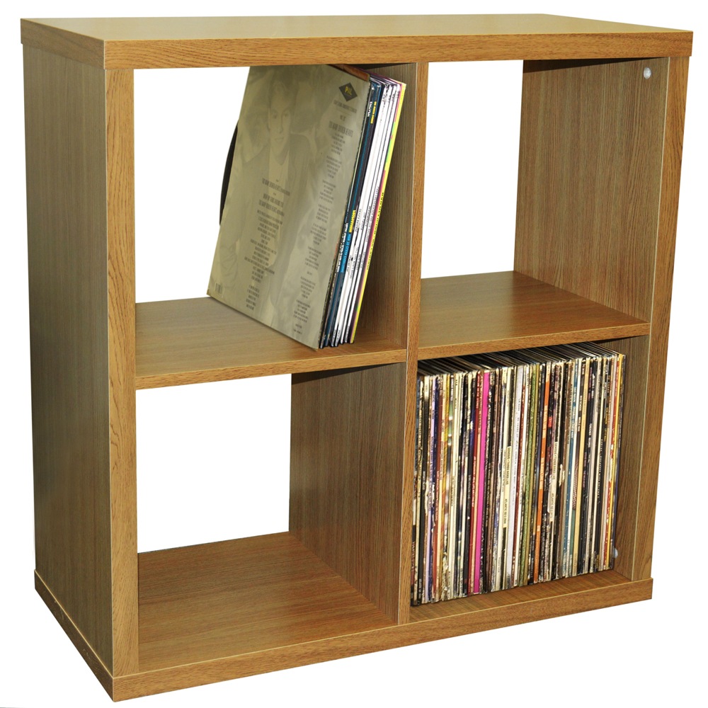 Cube 4 Cubby Square Display Shelves Vinyl Lp Record
