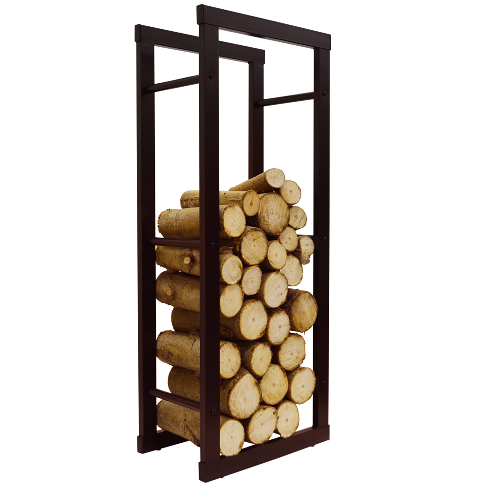Delicieux ONIDA   Metal 40cm Slimline Fireside Log Storage Rack   Black