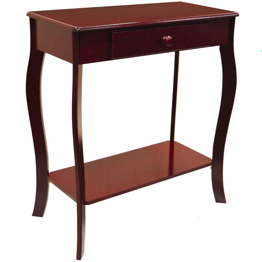Kadoka wooden console hallway table with storage drawer cherry