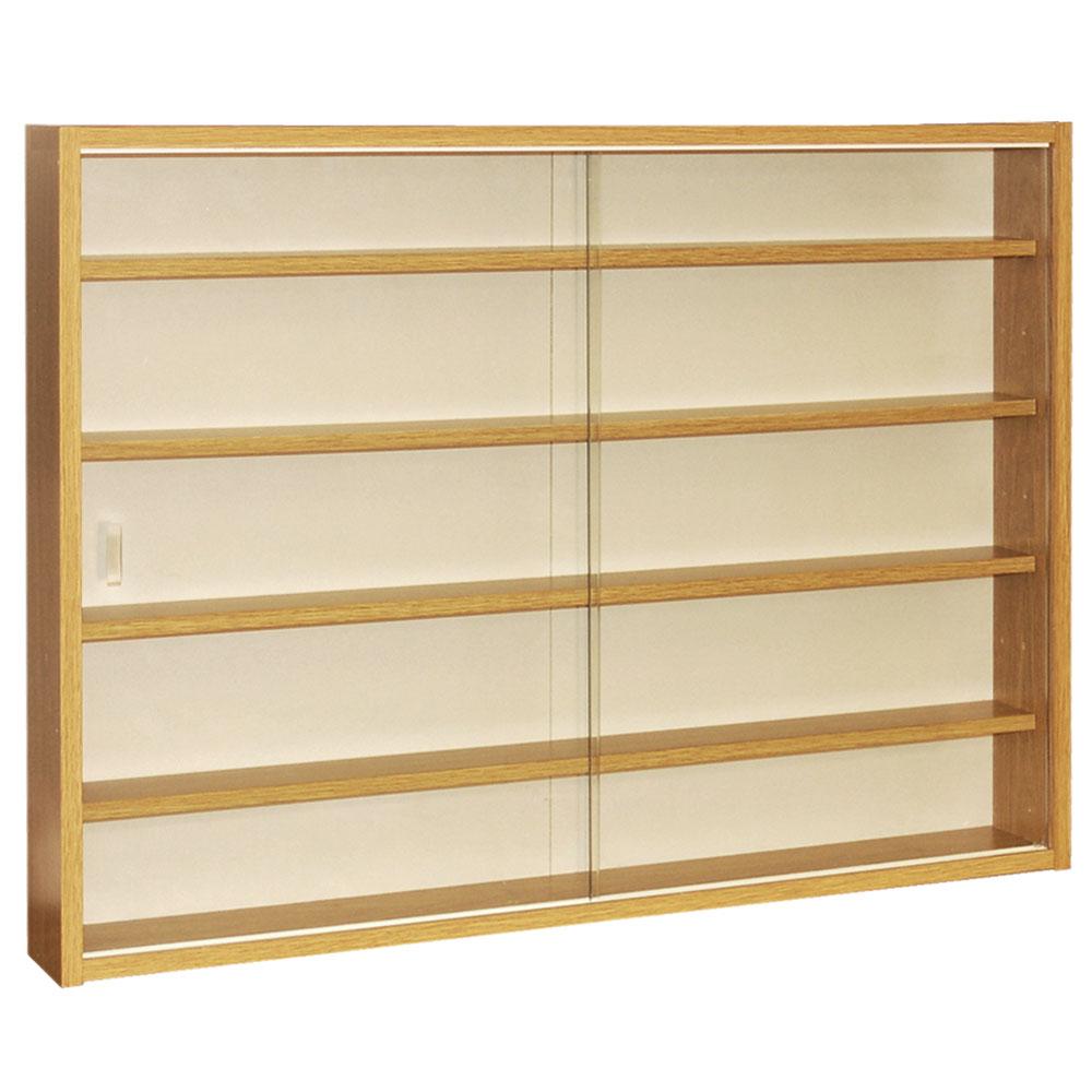 Kitchen Shelf Display: 4 Shelf Glass Wall Collectors Display Cabinet