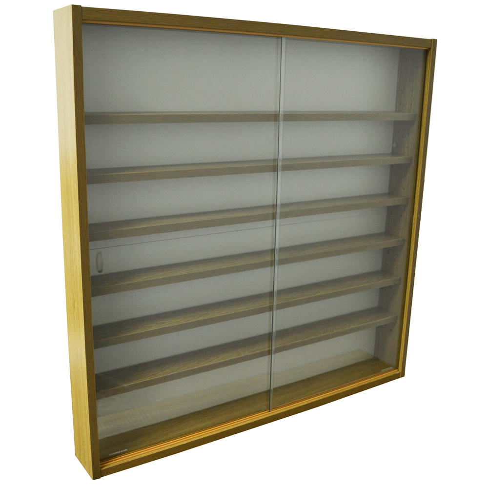 Reveal 6 Shelf Glass Wall Collectors Display Cabinet