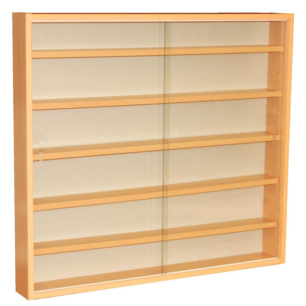 Kitchen Shelf Display: 6 Shelf Glass Wall Collectors Display Cabinet