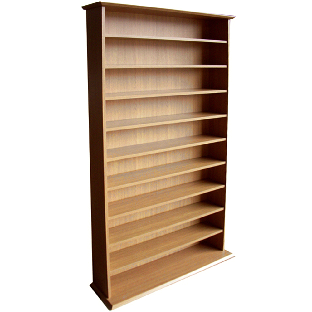 HARROGATE - 760 CD / 318 DVD / Blu-ray Media Storage Shelves - Oak
