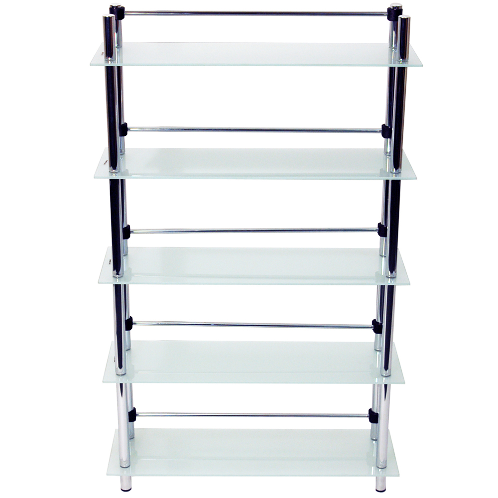 Splash 5 Tier Glass Bathroom Storage Shelves Frosted Watson 39 S On The Web Furniture