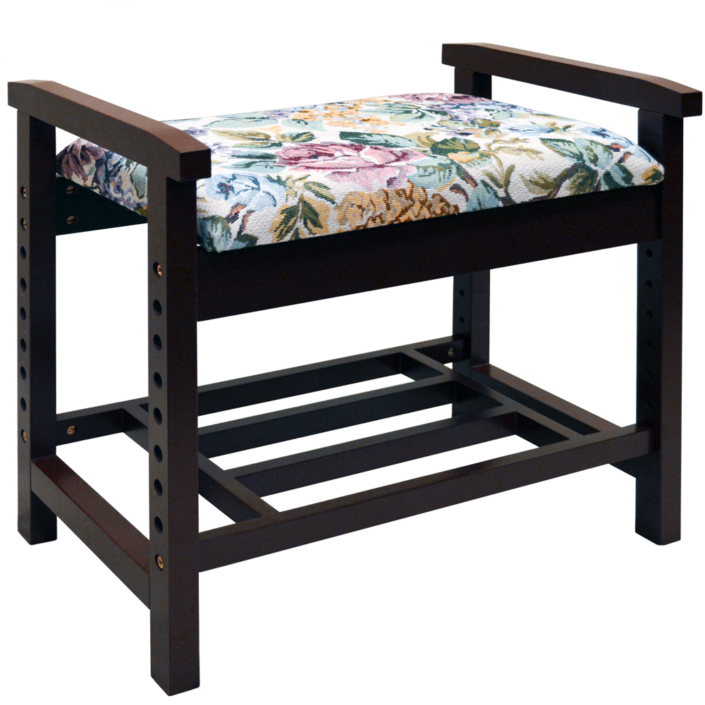 Burlington Adjustable Height Shoe Storage Bench With