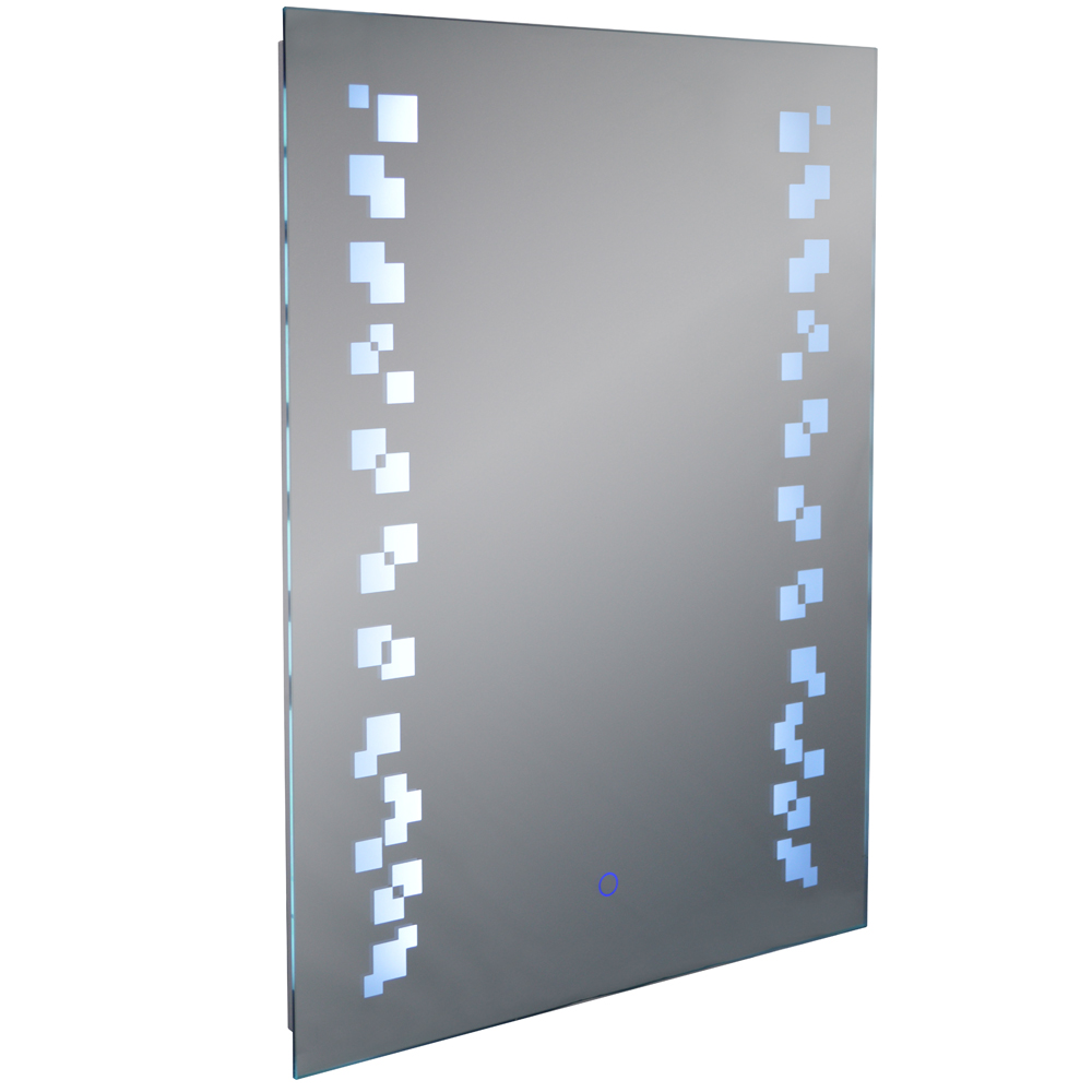 Grafik Led Illuminated 80 X 60cm Rectangular Wall Mirror