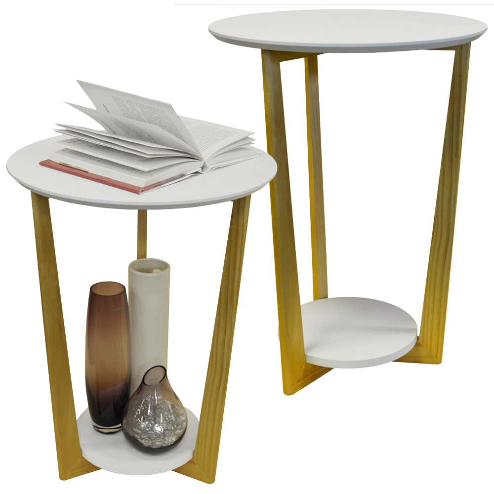 Round Side Table With Storage Uk