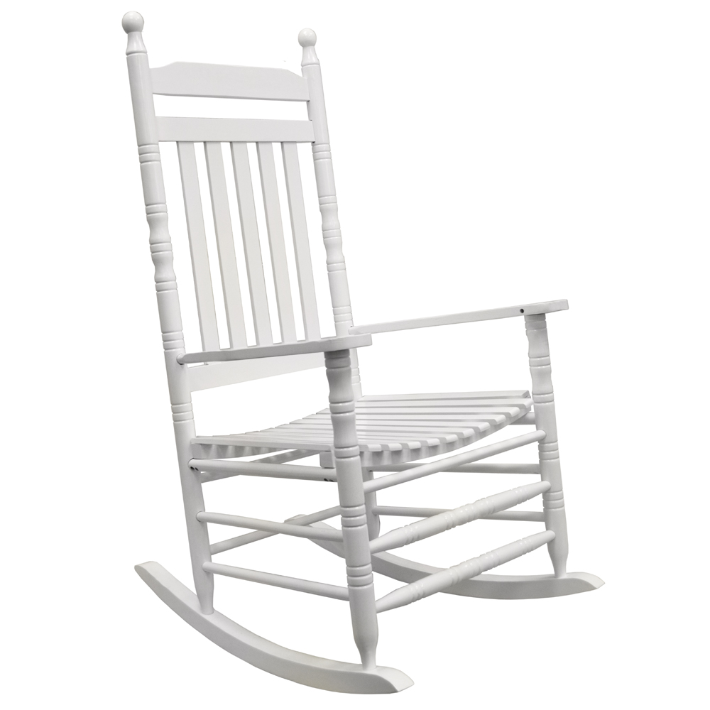 RELAX - Solid Wood Traditional Shaker Single Adult Rocking Chair - White