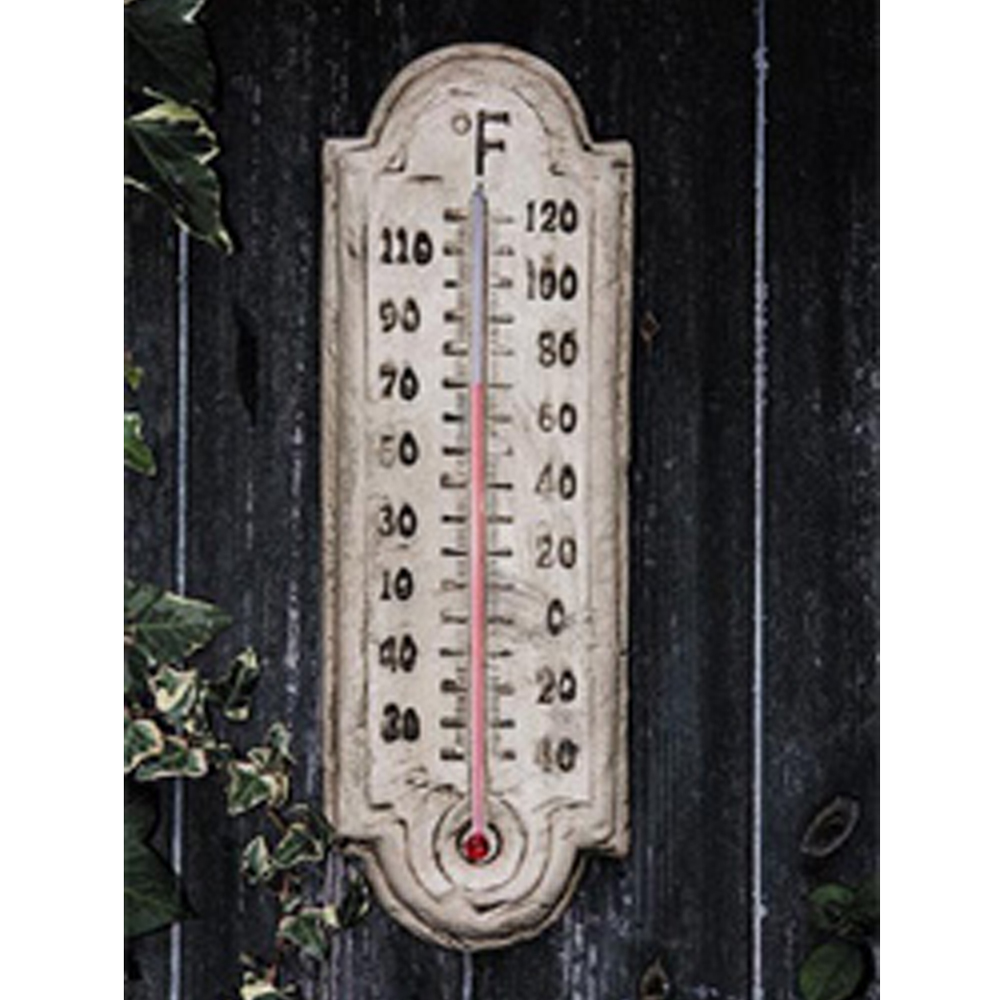 POMPEI - Ancient Stone Traditional Garden Outdoor Thermometer