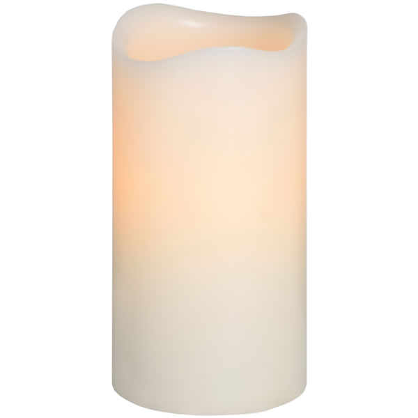 GLOW - 6 inch x 3 inch Pillar LED Decorative Candle - Cream