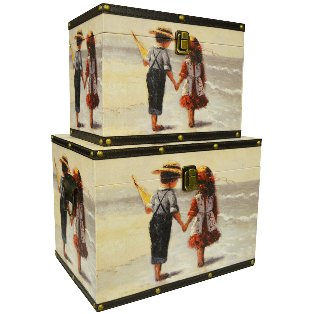 Beach quirky retro storage trunks boxes multi for Quirky retro gifts