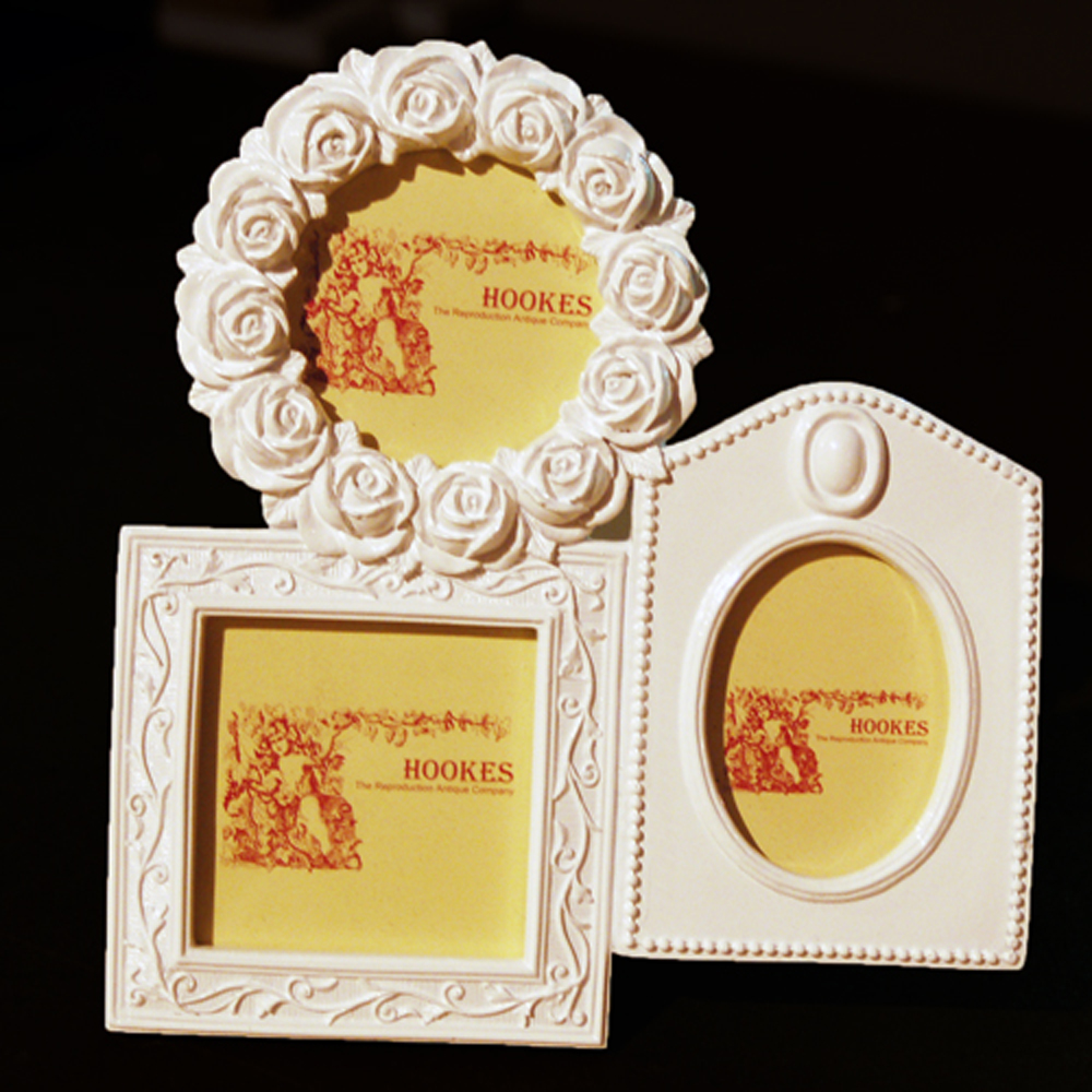 VICTORIAN - Traditional 3 Picture Collage Photo Frame - Cream