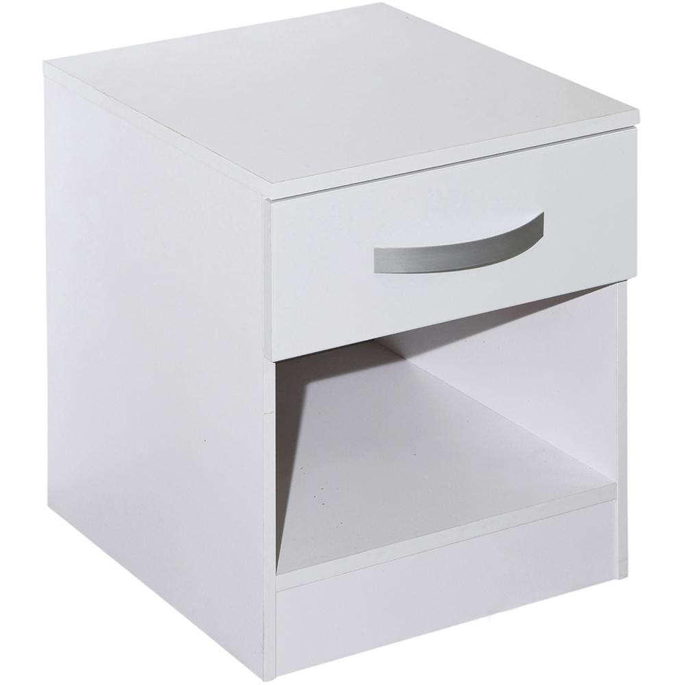 Lucie Simple Modern Bedside Cabinet 1 Drawer 1 Shelf