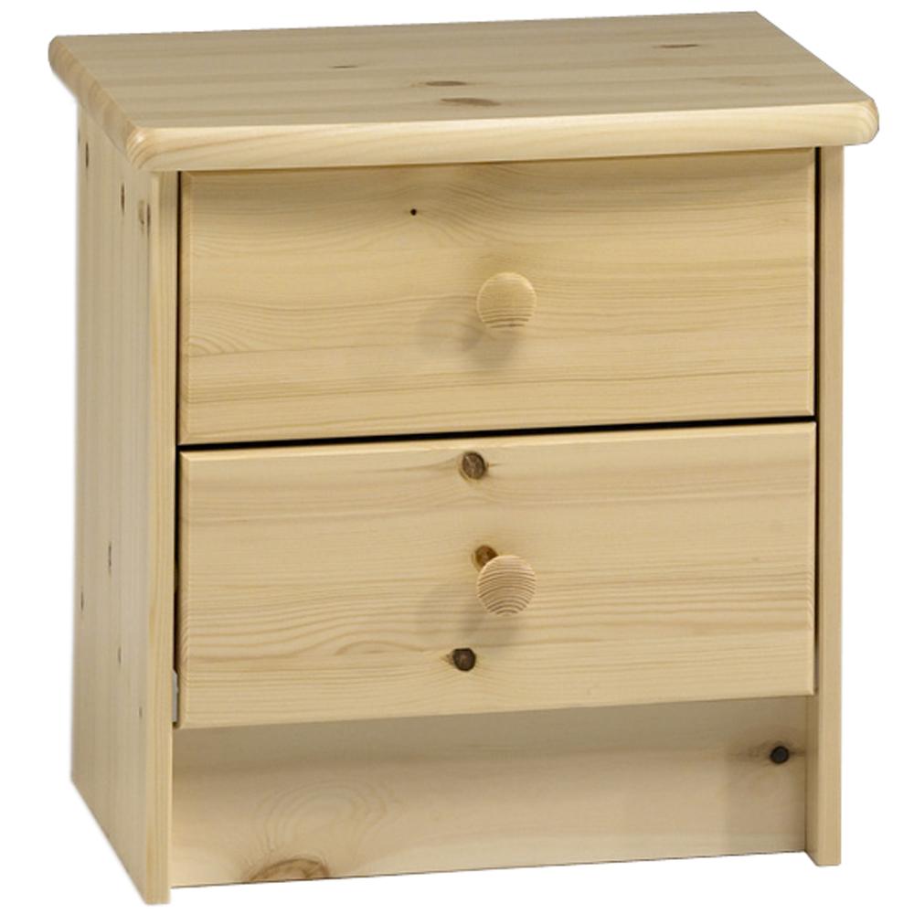 Childrens Animals Storage Box Chest 3 Kids Drawer Bedroom: Solid Wood 2 Drawer / Bedside Table