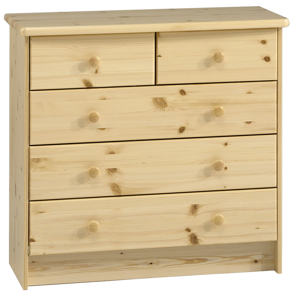 hartford solid wood chest of drawers 5 drawer wide storage chest pine watson 39 s on the. Black Bedroom Furniture Sets. Home Design Ideas