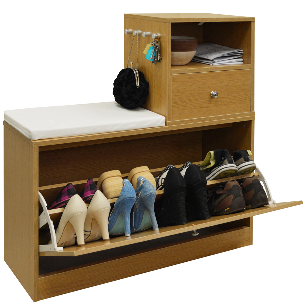 Buddy Telephone Hall Table With Shoe Storage Bench