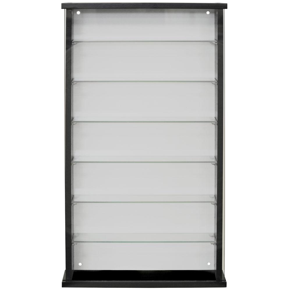 Exhibit Solid Wood 6 Shelf Glass Wall Display Cabinet