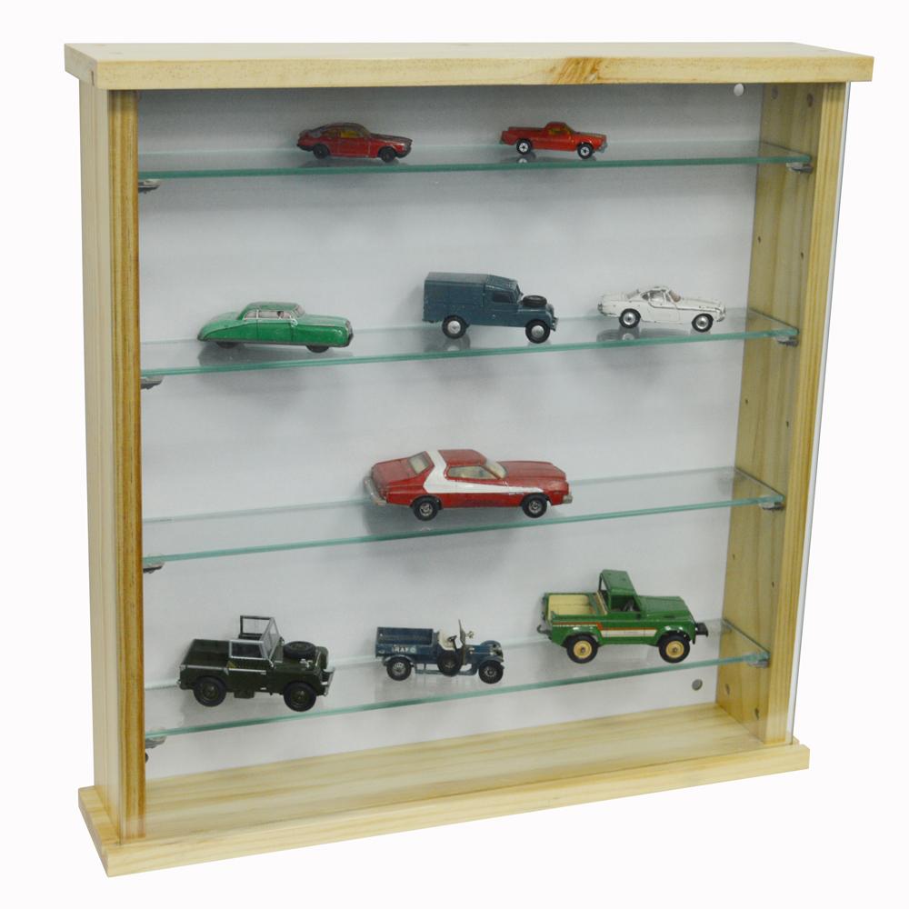 Exhibit Solid Wood 4 Shelf Glass Wall Display Cabinet