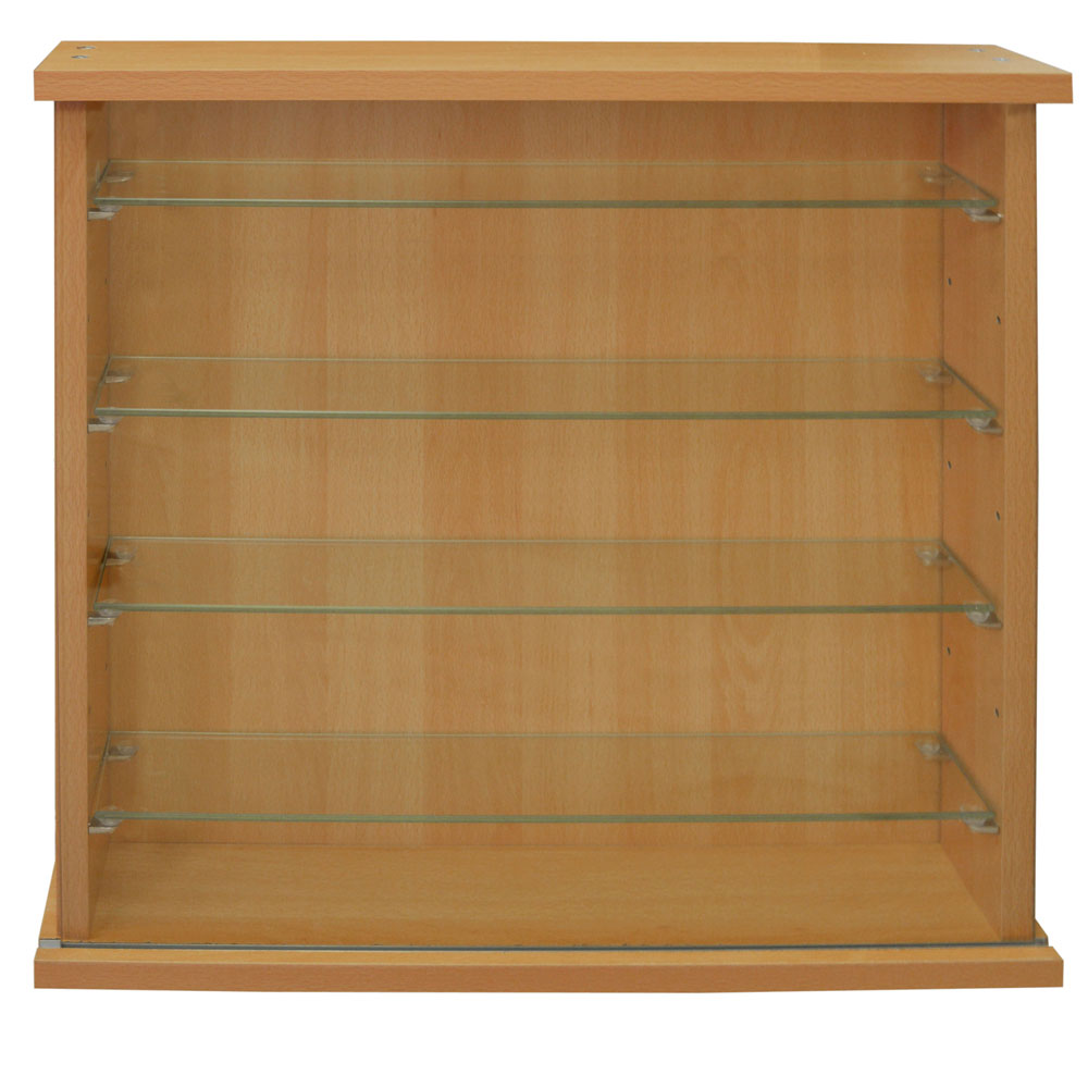 Collectors Wall Display Cabinet With Four Glass Shelves