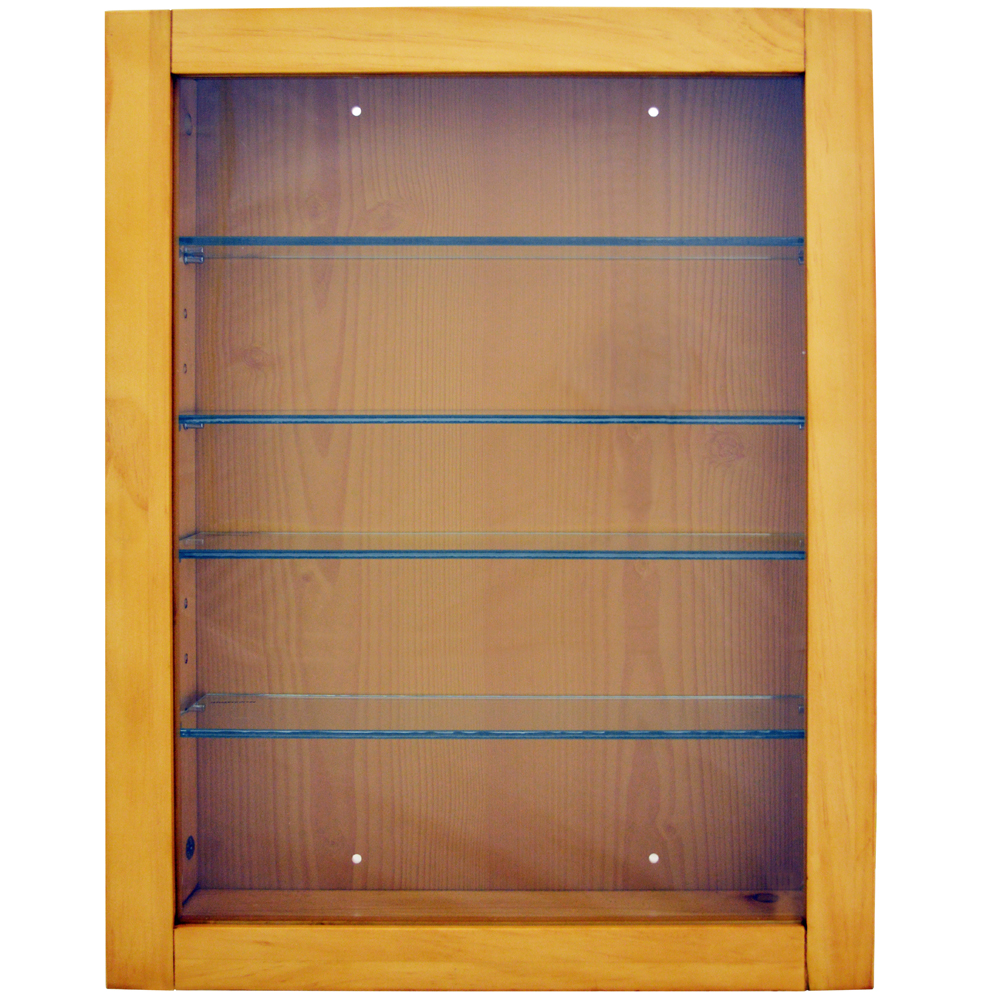 Collection Wall Display Cabinet With 4 Glass Shelves