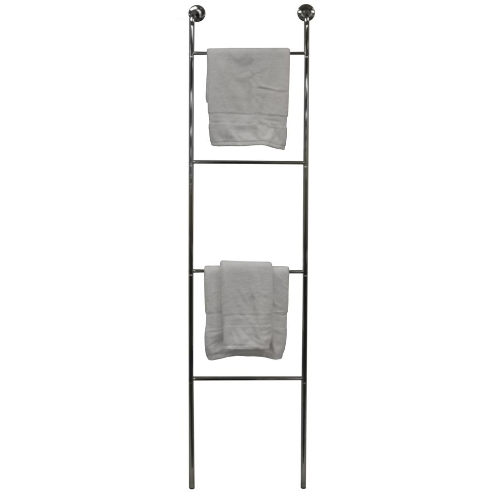 Ladder Chrome Metal Wall Mounted 4 Rung Towel Rail