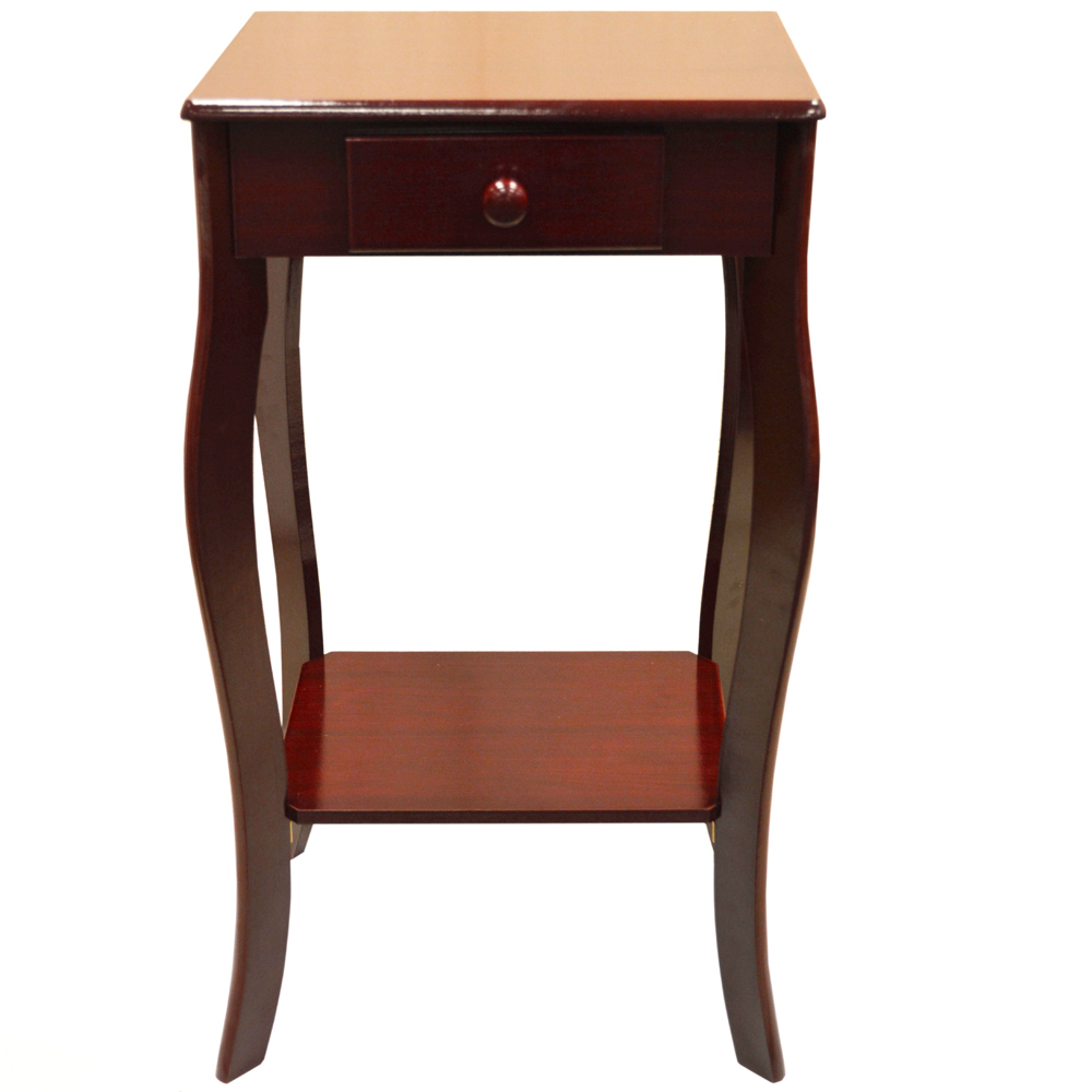 Cherry End Tables With Storage Cherry Finish Wood Tea Side Occasional Table Coffee Tables With