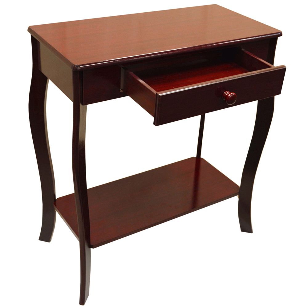 kadoka wooden console hallway table with storage drawer cherry watson 39 s on the web. Black Bedroom Furniture Sets. Home Design Ideas