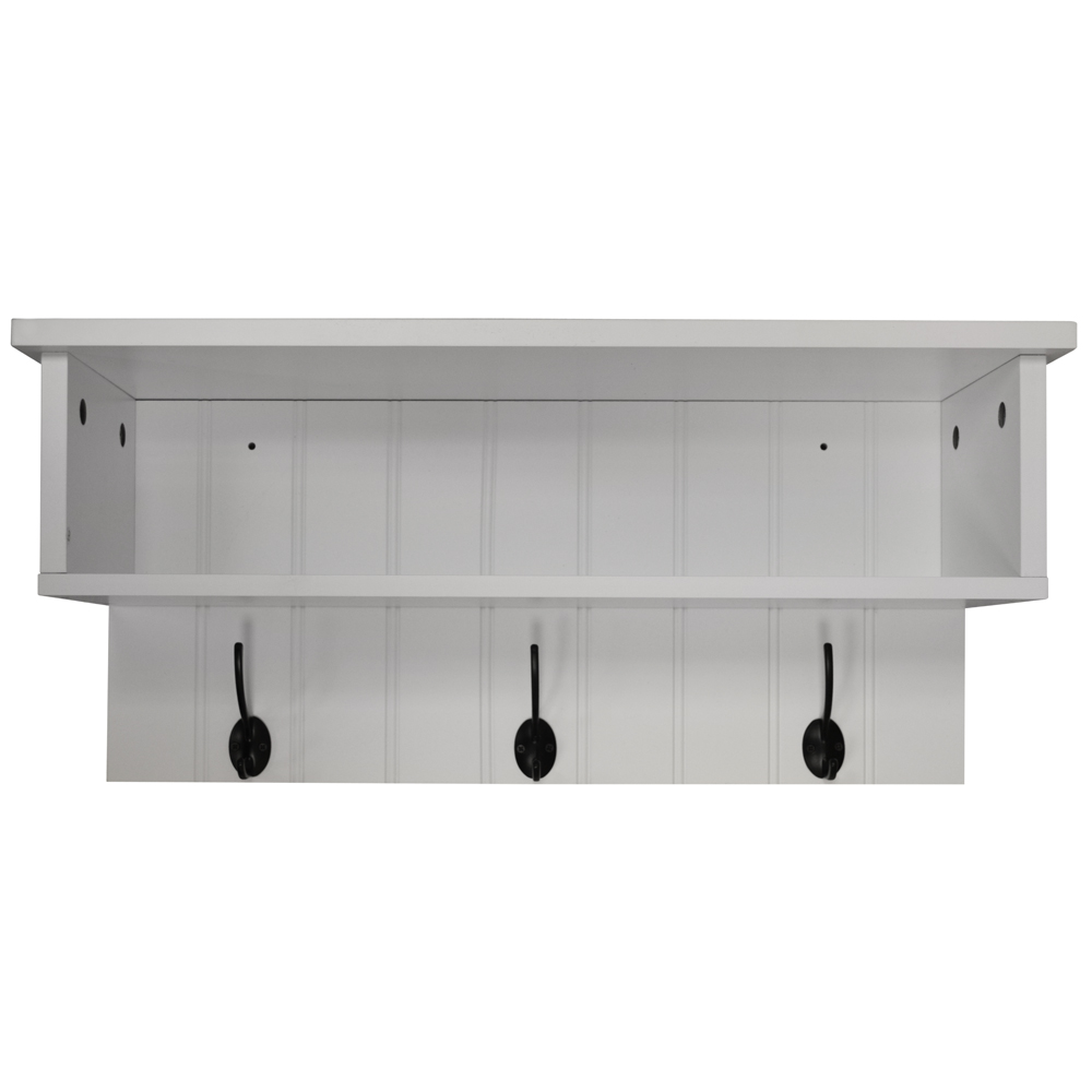 NEW ENGLAND - Wall Mounted Hall Rack with Storage and 3 ...