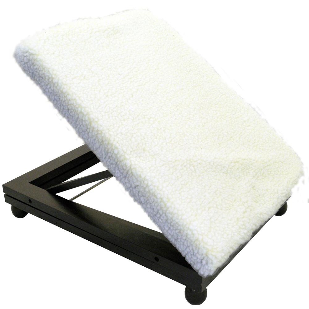 Easy Folding Adjustable Solid Wood Comfort Footstool