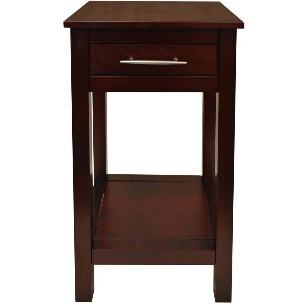 KYOTO  Solid Wood Storage Telephone  End Table with