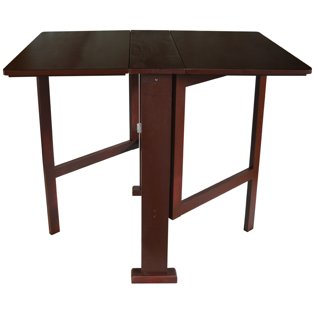 gateleg drop leaf 2 person compact dining table craft table dark finish watson 39 s on the. Black Bedroom Furniture Sets. Home Design Ideas