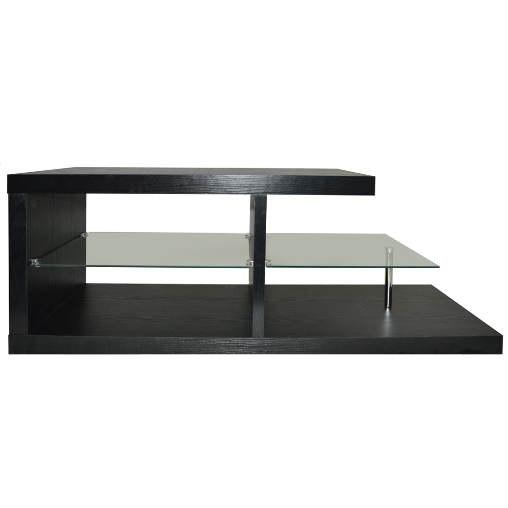 halo chunky tv stand entertainment unit coffee table black 2
