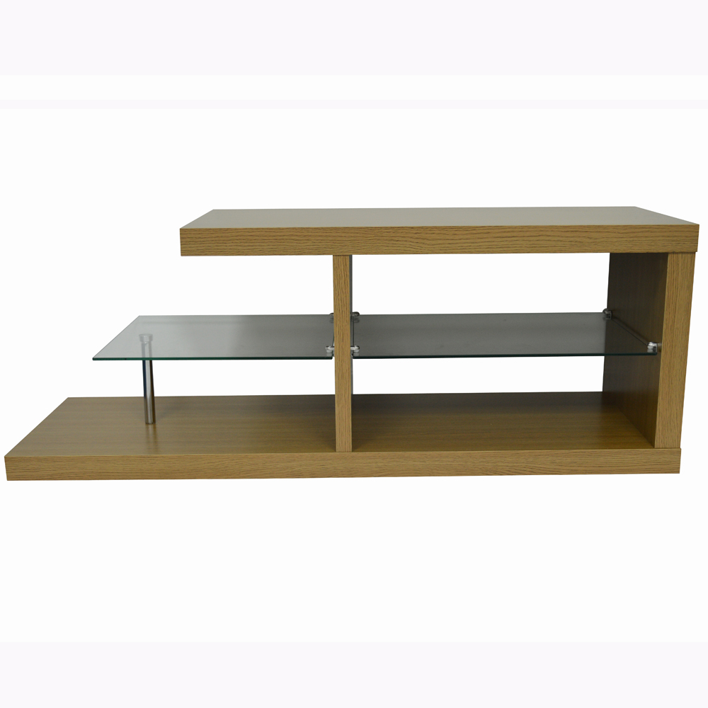 halo chunky tv stand entertainment unit coffee table oak 2
