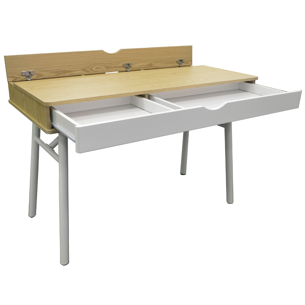 Tech modern retro hideaway office desk computer - Retro office desk ...