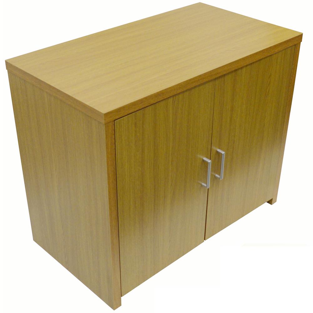 Hideaway Sideboard Office Computer Storage Desk Oak