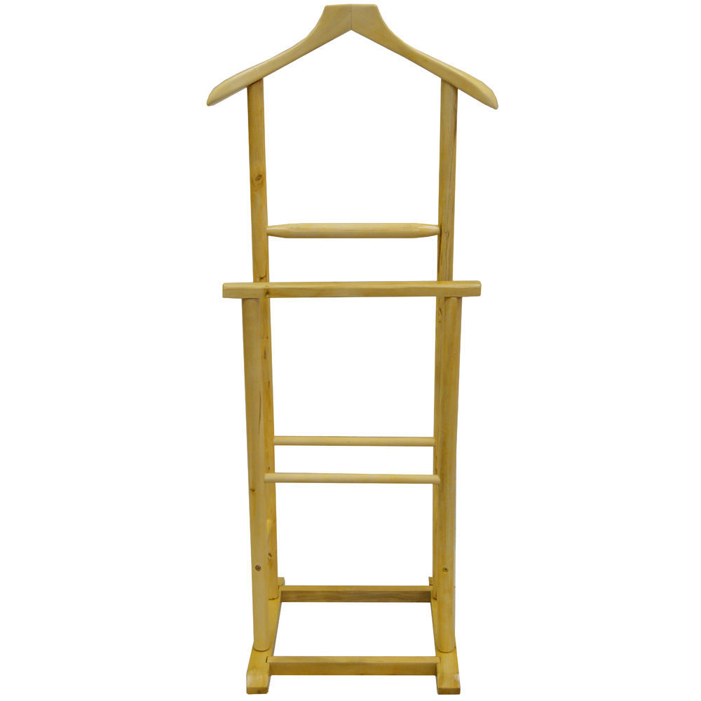 jeeves solid wood clothes valet stand hanging