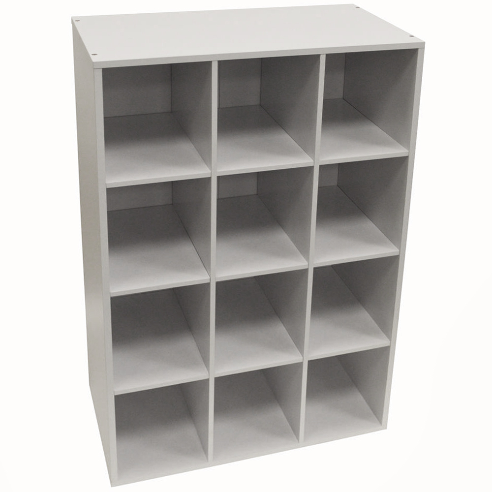 Pigeon Hole 12 Pair Shoe Storage Display Media