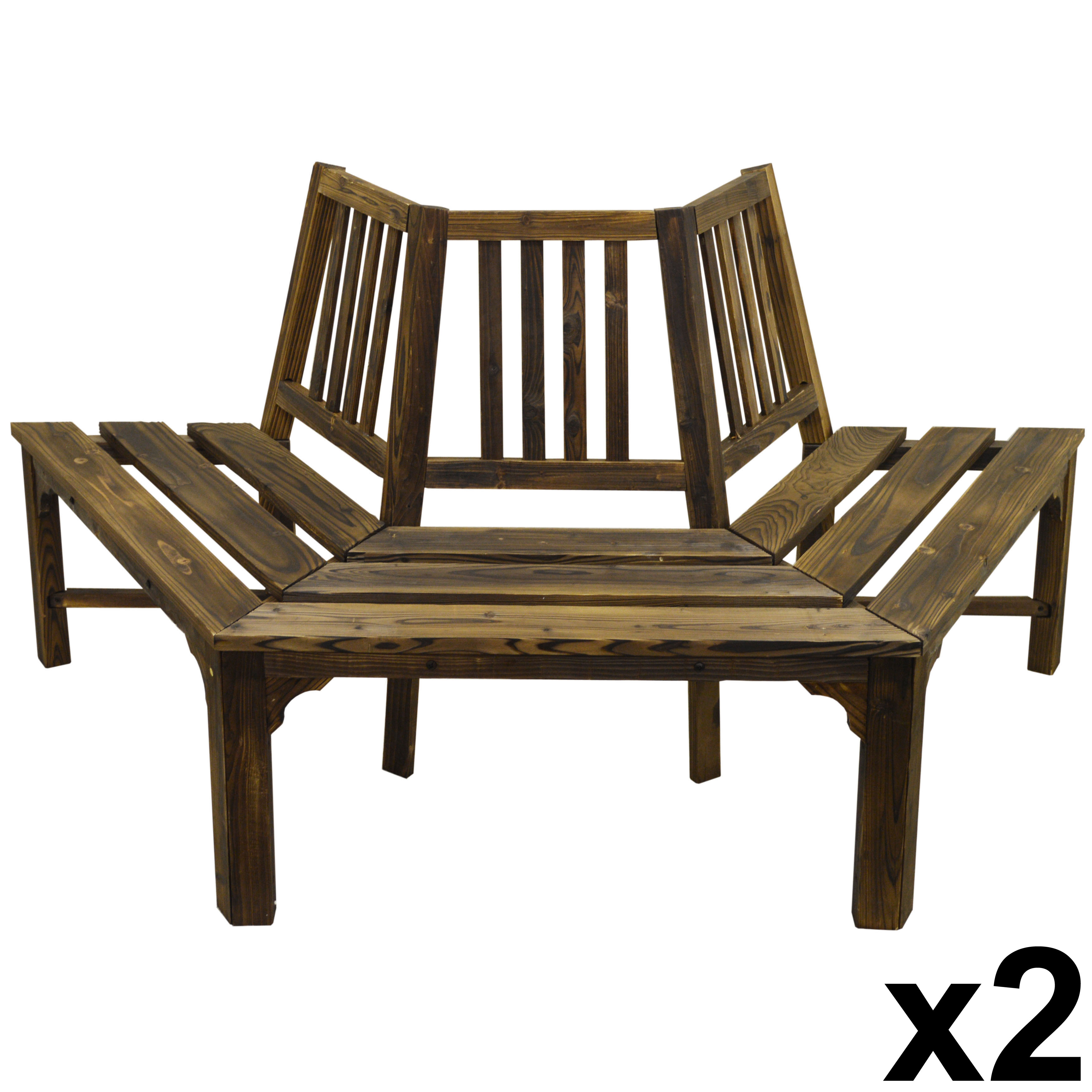 Amazing photo of CURVE Full Circle Tree Bench / Garden Seat Burntwood Watson's On  with #8B7140 color and 3504x3504 pixels